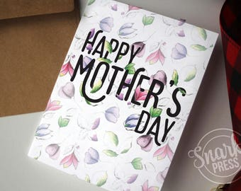 Floral Mother's Day Card - Blank Greeting Card for mothers day