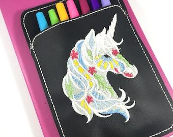 Pen Holder planner band - Unicorn - planner bullet journal accessories -best gifts for her