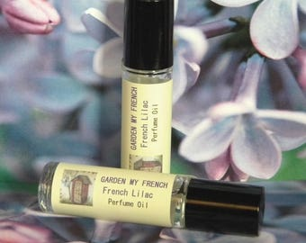 Lilac Perfume Oil, GARDEN MY FRENCH, Lilac Natural Cologne Oil, Natural Lilac Perfume, Handmade Perfume Oil, Handmade Cologne Oil