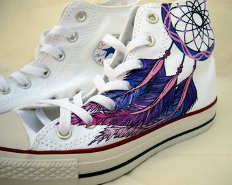Dreamcatcher Shoes - Hand Painted - Converse High tops