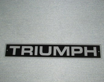 "Triumph TR6 16"" Trunk Badge Sign Man Cave Garage Shop"