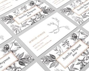 Botanical Cards, Calling Card, Business Card Design, Elegant Cards, Vintage Cards, Business Cards, Printable Cards, Card Design, Floral card