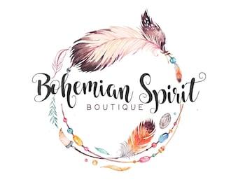 Premade Logo -BOHEMIAN SPIRIT- Premade Logo, Photography Logo, Boutique Logo, Logo Design, Logo Branding, Photographer Logo, Boho Logo