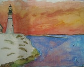 Watercolor printed postca...