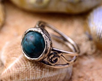 Silver ring, Turquoise Ring, Womens silver ring, Gemstone ring, Unique silver ring, handmade