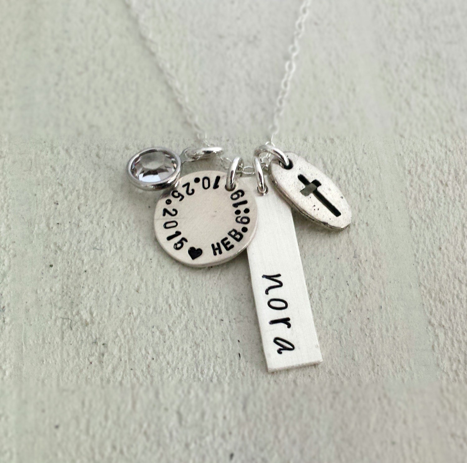 necklace white cross for gold jewelry baby jerezwine boys baptism