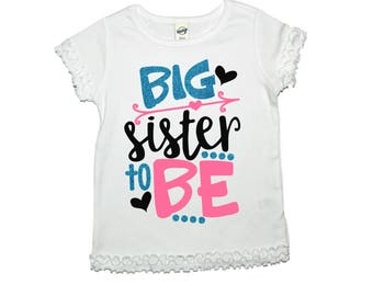 Big sister shirt Baby Announcement Gender Reveal Ideas Big sister gift Gender reveal