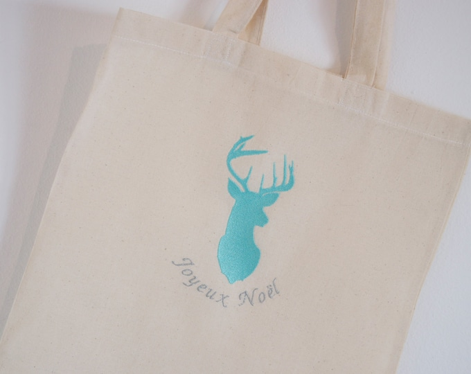 "Tote Bag ""Merry Christmas"" blue"