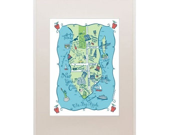 New York City Map Art Print