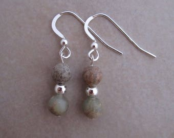 aqua terra jasper earrings sterling silver