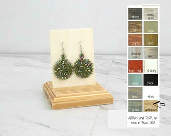 Wood Earring Displays Stands, Wood Jewelry Displays, Earring Display Cards, Earring Holders, Craft Show Booth Displays