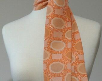 Vintage Kimono Silk Scarf, Necktie, Neck Tie, Skinny Scarf, Mini Scarf, Neck Kerchief, Obi, Sash