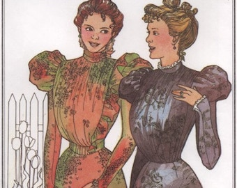 PP207 - Past Patterns #207, 1897 Side Closing Bodices Sewing Pattern