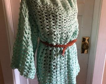 Handmade crocheted dress