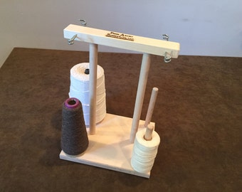 Fiber Artist Supply Co., LLC 4 Spool Maple Weavers' Yarn Cone Holder with Hardware Assembly