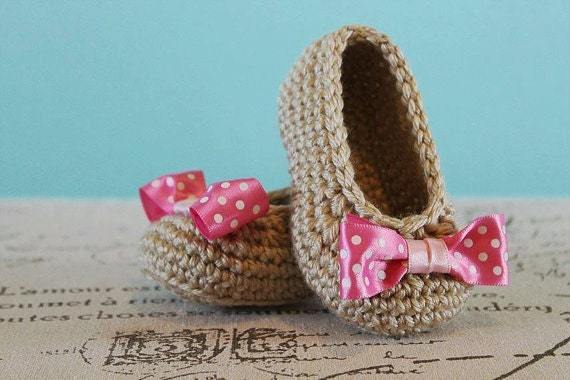 CROCHET PATTERN PDF Crochet Baby Girl Booties with Bow