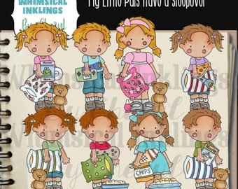 DIGITAL SCRAPBOOKING CLIPART - My Little Pals Have A Sleepover