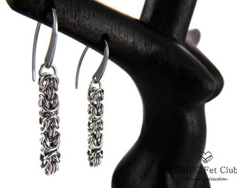 Micro Steel Byzantine Earrings - 316L Stainless Steel