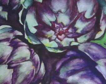 Artichokes Watercolor Print