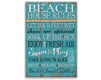 Beach house rules sign Beach signs beach rules cottage signs beach plaques cottage rules Beach house decor beach signs custom beach signs