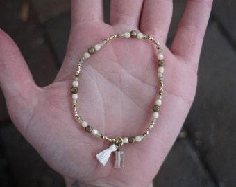 August Birthstone Bracelet (Peridot)