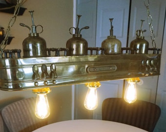 Vintage industrial ceiling lamps Machine Age Steampunk Collectible.Home Decor