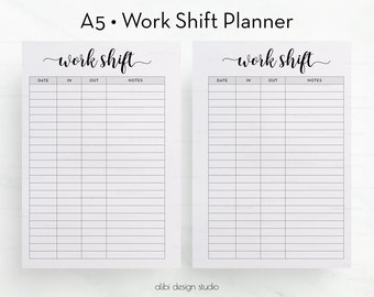 printable schedules for work