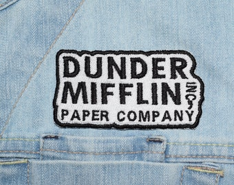 Paper Company, Iron-on Embroidered Patch
