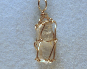 Mini Tibet Mother Crystal Wire Wrapped Pendant