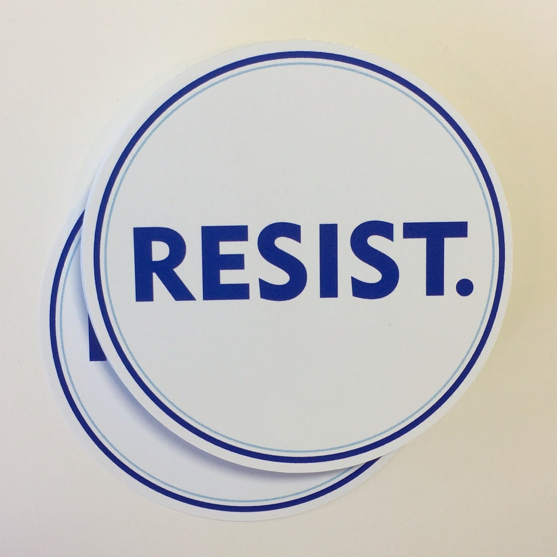 Resist vinyl bumper sticker anti trump resistance sticker zoom biocorpaavc
