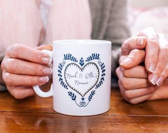 Mug Gift - Folk Art Mug - Mug For Her - Mum Mug - Nanna Gift - Grandma Gift