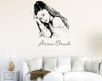 Ariana Grande Wall Decal Removable Vinyl Celebrity Wall Art Sticker