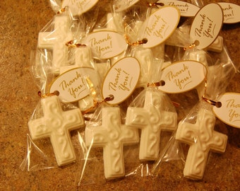 Communion, Baptism, Confirmation Chocolate Cross Favors (12)
