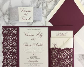 wedding invitation pockets