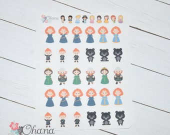 Brave Planner Stickers ~ Disney Inspired  | Life Planner | EC | Erin Condren | Limelife | Inkwell | Plum | Kikki | Decorative | Movie