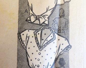 Vintage 40s 50s Blouse Pattern, Anne Adams 4565, Tie Blouse, Shaped Neck, Swing Sleeves, Mail Order Pattern, Paper Pattern, Size 14 Bust 32