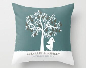 Wedding Pillow Personalized Custom Wedding Throw Pillow Cover Decorative Pillow Cover Wedding Gift Newlywed Bridal Shower Engagement Gift