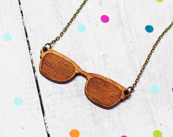 Sunglasses Necklace | Wayfarers | Wooden Sunglasses