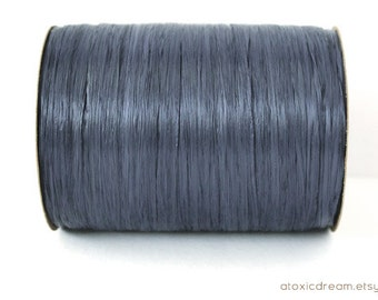 Matte Navy Blue Raffia Ribbon - 30/100 yards - 1/4 inch wide