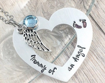 Mommy of an Angel, Baby Memorial Necklace, Pregnancy Loss, Miscarriage Jewelry, Infant Loss Gift, Stillborn, Loss of Baby, Remembrance Gifts