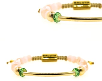 Mint-Pink Swarovski Gold