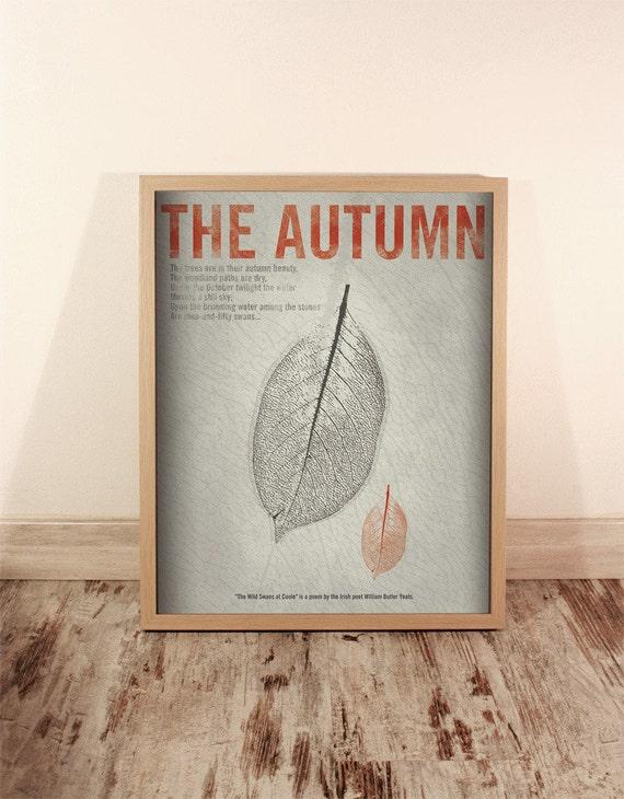 The Autumn. Wall decor art. Illustration. Digital print. Book. Poster. 15,75 x 19,69 inch