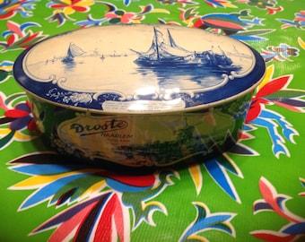 Vintage Droste Cocoa tin- Haarlem, Holland