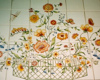 Country French Tile Mural