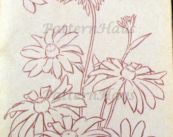 Vintage Embroidery  Flowers  Patterns Instant Downloads 8 Patterns