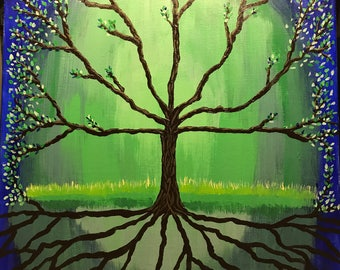 Blue and Green Tree