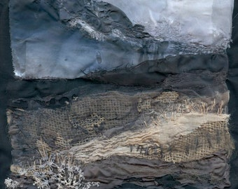 Stormy Dunes -  Textile / Mixed Media Art Giclee Print