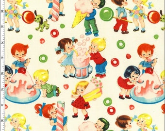 Candy Shop in Creme  - Michael Miller 100% Cotton Fabric
