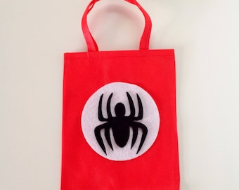 10 Pcs Spiderman Bag Treat Bags Goodie Bags Candy Bags Justice League Spider man