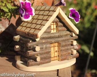 Miniature Cabin Cake Topper Rustic Wedding Display
